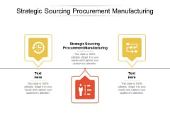 Strategic Sourcing Procurement Manufacturing Ppt PowerPoint Presentation Inspiration Deck Cpb
