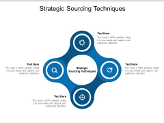 Strategic Sourcing Techniques Ppt PowerPoint Presentation Gallery Icon Cpb