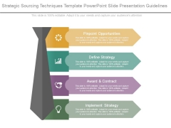 Strategic Sourcing Techniques Template Powerpoint Slide Presentation Guidelines