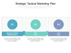Strategic Tactical Marketing Plan Ppt PowerPoint Presentation Outline Design Templates Cpb