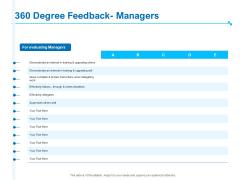 Strategic Talent Management 360 Degree Feedback Managers Ppt PowerPoint Presentation Portfolio Inspiration PDF