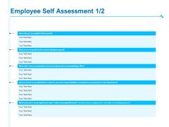 Strategic Talent Management Employee Self Assessment Ppt PowerPoint Presentation Layouts Files PDF