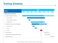 Strategic Talent Management Training Schedule Ppt PowerPoint Presentation Icon Example Introduction PDF