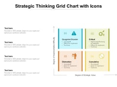 Strategic Thinking Grid Chart With Icons Ppt Powerpoint Presentation Portfolio Pictures Pdf