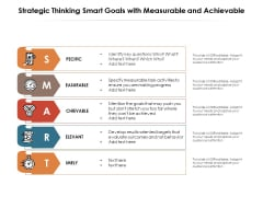 Strategic Thinking Smart Goals With Measurable And Achievable Ppt PowerPoint Presentation File Slide Portrait PDF