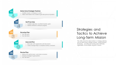 Strategies And Tactics To Achieve Long Term Mission Ppt Outline Show PDF