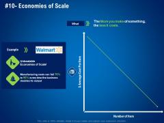 strategies distinguish nearest business rivals economies of scale ppt ideas graphics pdf