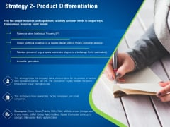 Strategies Distinguish Nearest Business Rivals Strategy 2 Product Differentiation Ppt Summary Objects PDF