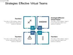 Strategies Effective Virtual Teams Ppt PowerPoint Presentation Slides Information