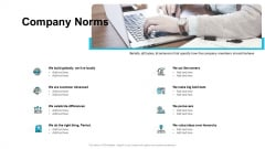 Strategies For Improving Corporate Culture Company Norms Ppt Icon Portfolio PDF