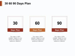 Strategies For Organizing Events 30 60 90 Days Plan Ppt PowerPoint Presentation Infographic Template Templates PDF