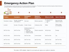 Strategies For Organizing Events Emergency Action Plan Ppt PowerPoint Presentation Ideas Background PDF