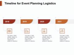 Strategies For Organizing Events Timeline For Event Planning Logistics Ppt Slides Samples PDF