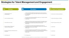 Strategies For Talent Management And Engagement Ppt Styles Designs Download PDF