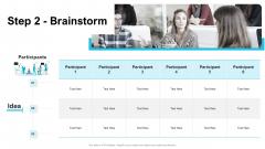 Strategies Improving Corporate Culture Step 2 Brainstorm Infographics PDF
