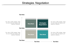 Strategies Negotiation Ppt PowerPoint Presentation Inspiration Diagrams Cpb