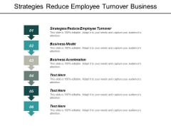 Strategies Reduce Employee Turnover Business Model Business Acceleration Ppt PowerPoint Presentation Professional Deck