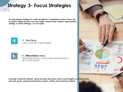 Strategies Take Your Retail Business Ahead Competition Strategy 3 Focus Strategies Template PDF