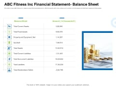 Strategies To Enter Physical Fitness Club Business ABC Fitness Inc Financial Statement Balance Sheet Guidelines PDF