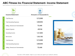 Strategies To Enter Physical Fitness Club Business ABC Fitness Inc Financial Statement Income Statement Brochure PDF