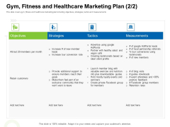 Strategies To Enter Physical Fitness Club Business Gym Fitness And Healthcare Marketing Plan Strategies Microsoft PDF