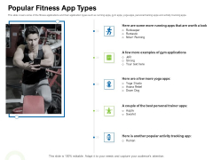 Strategies To Enter Physical Fitness Club Business Popular Fitness App Types Structure PDF