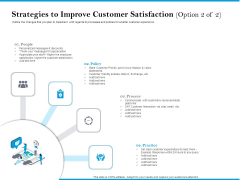 Strategies To Improve Customer Satisfaction Option Policy Information PDF