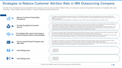 Strategies To Reduce Customer Attrition Rate In IBN Outsourcing Company Designs PDF