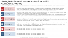 Strategies To Reduce Customer Attrition Rate In Ibn Outsourcing Company Ppt Professional Guidelines PDF