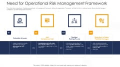 Strategies To Tackle In Banking Institutions Need For Operational Risk Management Framework Portrait PDF