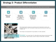 Strategies To Win Customers From Competitors Strategy 2 Product Differentiation Diagrams PDF