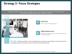 Strategies To Win Customers From Competitors Strategy 3 Focus Strategies Portrait PDF