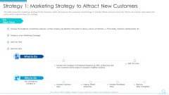 Strategy 1 Marketing Strategy To Attract New Customers Demonstration PDF