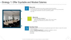 Strategy 1 Offer Equitable And Modest Salaries Background PDF