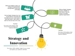 Strategy And Innovation Ppt PowerPoint Presentation Ideas Samples