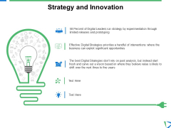 Strategy And Innovation Ppt PowerPoint Presentation Slides Visuals