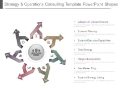 Strategy And Operations Consulting Template Powerpoint Shapes