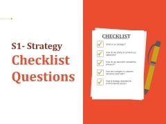 Strategy Checklist Questions Ppt PowerPoint Presentation Summary Template