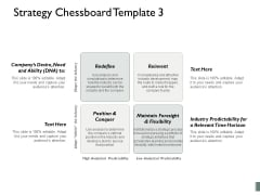 Strategy Chessboard Maintain Foresight And Flexibility Companys Desire Need And Ability Ppt PowerPoint Presentation Ideas Picture