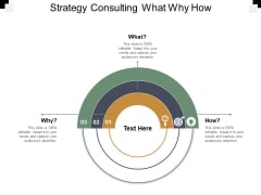 Strategy Consulting What Why How Ppt PowerPoint Presentation Gallery Graphic Images