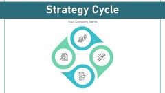 Strategy Cycle Business Growth Ppt PowerPoint Presentation Complete Deck With Slides
