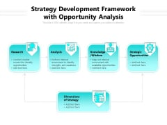Strategy Development Framework With Opportunity Analysis Ppt PowerPoint Presentation File Backgrounds PDF
