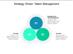 Strategy Driven Talent Management Ppt PowerPoint Presentation Infographics Guidelines Cpb
