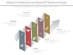 Strategy For Sustaining Growth Diagram Ppt Background Designs