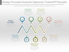 Strategy Formulation Acquisition Opportunity Timeline Ppt Examples