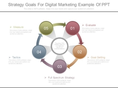 Strategy Goals For Digital Marketing Example Of Ppt