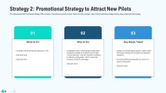 Strategy Grid Promotional Strategy To Attract New Pilots Sample PDF