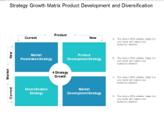 Strategy Growth Matrix Product Development And Diversification Ppt PowerPoint Presentation File Ideas