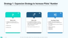Strategy Icon Expansion Strategy To Increase Pilots Number Elements PDF