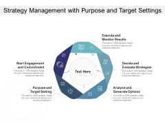 Strategy Management With Purpose And Target Settings Ppt PowerPoint Presentation Model Design Ideas